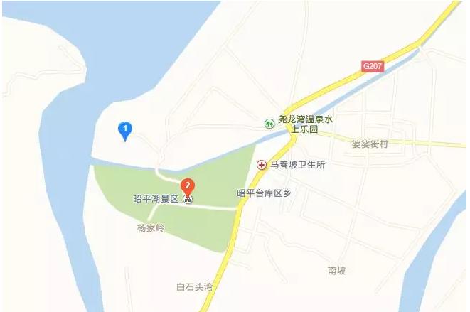 昭平湖路线图